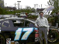 Joel with the Team Lycos Car